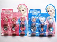 Free shipping 24set Cartoon Frozen Children's cartoon stationery stamper set vendor