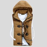 Men Warm Vest 2014 Brand New Design Fashion Men's Sleeveless Jacket Casual Mens Coat Cotton-padded Outwear Slim Waistcoat Z72