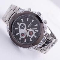 Long wave authentic men's business strip waterproof watches three six -pin dial quartz watch wholesale 8813-1