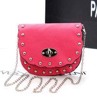 2014 Korean Style Girl's Shoulder bag Candy Messenger Bag Rivet Bag Small Crossbody Bag Kids Gift