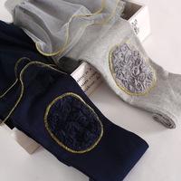 2014 hot sale fashion girls lace rose flower knees skirt Tutu leggings,kids lace leggings gray blue Free Shipping