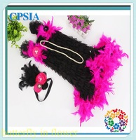 2014 Baby Girl Feather tutu Dress Kids Girl Dresses Girl Party Clothing Halloween Dress  Free shipping 12set/lot
