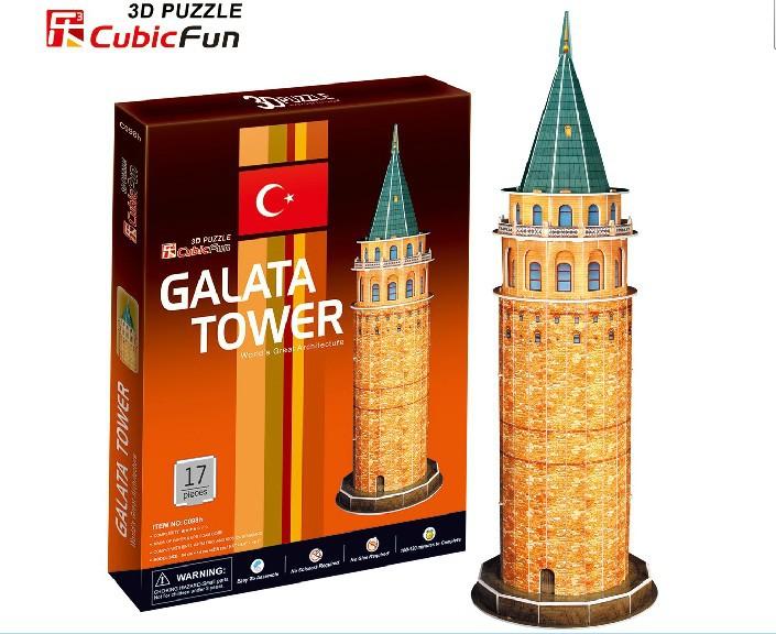 Free shipping Original CubicFun 3D puzzle Big building model Turkey gallas tata children's toys birthday gift(China (Mainland))