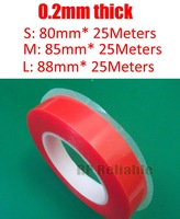 1x (0.2mm Thick) 80mm (or 85mm/88mm) Strong Bond Clear Two Sides Acrylic Tape No Trace for Panel Battery PVC Surface Bond