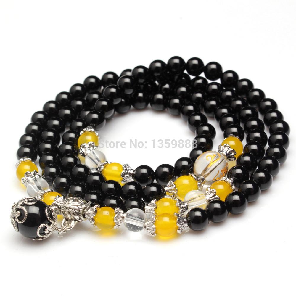 RiceChen natural agate beads multi-turn micro inlay jewelry wholesale new Korean version of the prayer beads bracelet(China (Mainland))