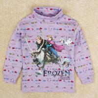 Retail 2014 Nova Frozen long-sleeve turtle neck t shirt High collar T-shirt casual boy warm tees tops kid outwear sweater A5541