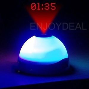 Color Change Projection Clock Time Projector Digital LED Clock Night Light H5(China (Mainland))