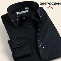 Deep sea deepocean 2014 autumn new arrival male shirt long-sleeve fashion diamond slim men's clothing