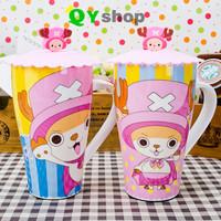 Cartoon ONE PIECE ceramic mug  large capacity cup with lids lovely tea&coffee cup High quality bone china mug free shipping