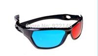 Free shipping 500pcs DHL/EMS Red cyan blue Plastic Framed 3D Dimensional 3D glass