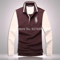 2014 Brand New Mens Fashion Tees T Shirts Casual Classic Luxury Designer Emboroidery Horse Long Sleeves T-Shirts Men's T Shirt