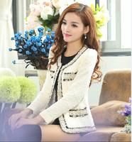 6571 2014 autumn slim woolen outerwear women's small spring and autumn female blazer