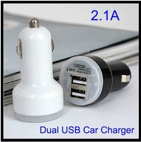 2.1A Dual USB Ports mini Car Charger AC Adapter for  Samsung S4 S5 Note 3 cell phone 5000pcs DHL Free