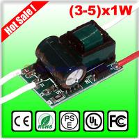 5X1W led driver, 5W LED lamp Transformer, high power LED power driver, 85-265V inside driver for LED lamp, free ship