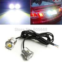 2x White LED Eagle Eye Backup Reverse Tail Parking Light Blub Lamp 1.5W