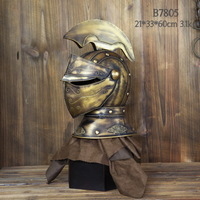kingart  family home / Continental bar furnishings / decorative armor Western technology / Roman knight helmet