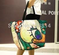 Bolsas Femininas 2014 Korean Style Desigual Women Fashion Bag Colorful Duck Decoration Big Volume Shopping Shoulder Bag N-JG 013