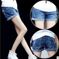 2014 Summer Autumn Women Shorts European Korean Fashion Big Size Low Waist Slim Lady Denim Short Jeans D20