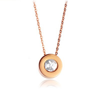 316L stainless steel pendant necklace rose gold plated necklaces top quality 1pcs/lot free shipping