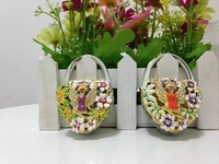 Free Shipping 3 in 1mirror bag hanger flower and butter fly bag hanger fashion folding bag hook  Hear shape bag hanger