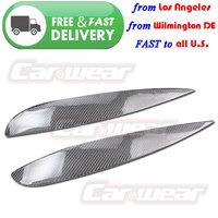 for 2002-2006 Acura RSX Honda Integra DC5 Real Carbon Fiber Headlight Eyebrows Eyelids