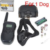 for1 dog** 300M New LCD REMOTE CONTROL 100LV Shock + Vibra Remote Electric Dog Training Collar