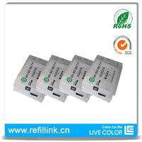 LIVE COLOR 4 pcs black refillable cartridge for HP 711 CZ133A CZ129A CZ130A CZ131A CZ132A for HP Designjet T120 T520