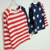 2014 autumn new arrival fashion wholesale 5pcs/lot 100% Cotton stars striped cartoon top tee children kids girls boy t shirts