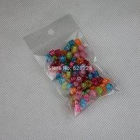 1000pcs 10bags/lot  Multicolor 6mm Candy colors Transparent Alphabet Beads Charms For DIY Loom Rubber Bands Bracelets CB8063