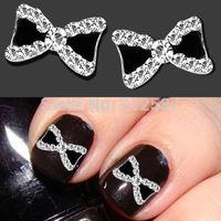 10pcs 3D Nail Art Glitters Metal Rhinestone Bowknot bow Decoration Manicure Tips
