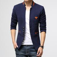 Hot-Selling!  Free Shipping 2014 New Arrive Fall fashion pure color men blazer men's casual slim wool blazer coat size M~XXL