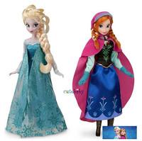 Retail popular frozen princesses doll 2014 new cute Anna Elsa mini baby doll action figures dolls toys 2pieces set classic toys