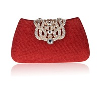 Luxurious Crown Diamond Evening Bags,New Rhinestone Crown Day Clutches,Party Purse,Wedding Pouch,Lady's Shoulder Handbag 1616