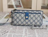 2 Colors Free shipping Top Quality Brand Women Vintage Plaid Zipper & Hasp PVC Organizer Wallets