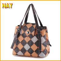 Hot Sale European&American Style Star Fashion Patchwork Bags Hobo Purses Handbags Women Shoulder Totes Bags K549