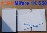 100pcs printable IC Cards credit card size 0.8mm Thickness M1 1K S50 RFID 13.56MHz White PVC for printer Epson Zebra Argox