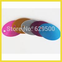200pcs/lot Ellipse Design 38*25mm Blank Dog Tags Wholesale 2sides Printable Laser Engraving Dog TAGS
