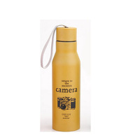 Yellow 500ML Fashion Cycling Bike Bicycle Stainless Steel Water Bottle Vacuum Thermos Flask AC1018-Y