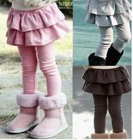 Free shipping New 2014 girl legging Girls Skirt-pants Cake skirt kids leggings girl baby pants kids leggings  for girls