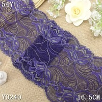 16.5  elastic lace trim fabric DIY sewing material home decoration fabric trimming