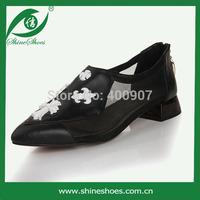 2014 low heel women dress shoe