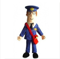 Hot Christmas postman pat Cartoon Mascot Costume Halloween Fursuit Fancy Dress Mascot Costume