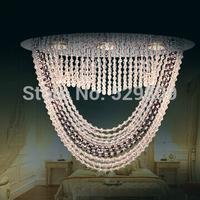 Free shipping drops of Rain Design oval crystal chandelier lustres de cristal led light flush mount home lighting