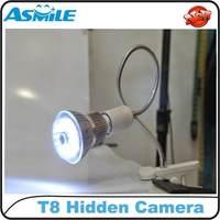 T8 Light Bulb Camera Mini DVR 1280*720 IR Night Vision Voice Activated Cyclic Video Recording Hidden Lamp CCTV Camera