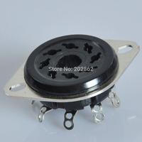 2pcs Vintage Tube Octal Black Phenolic Socket KT88 EL34