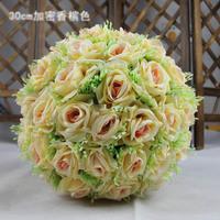 25cm quality rose ball dried flowers artificial flower silk flower plastic flower wedding bouquet home decoration A57