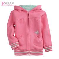 dren's wear long sleeved sweater cashmere sweater butterflies warm autumn girl zipper jacket new wholesale manufacturers