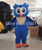 Hot Christmas Big Blue Owl Cartoon Mascot Costume Halloween Fursuit Fancy Dress Mascot Costume