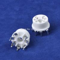 10PCS Ceramic Mini Tube socket 7pin PCB Mount