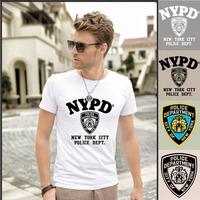 Men's Short Sleeve Summer Cotton T-Shirt Fashion Designs Mens Casual Tee Shirt nypd t shirt